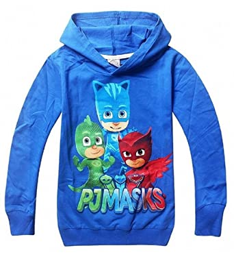 Owone Box PJ Masks Baby Kids Long sleeve fleece T-shirt hoodies, Blue
