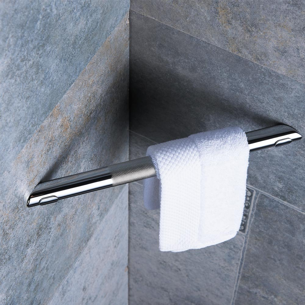 Modern Anti-Slip Bathroom Shower Step Knurled Surface Texture in Matte Black Finish Sanliv Corner Shower Foot Rest