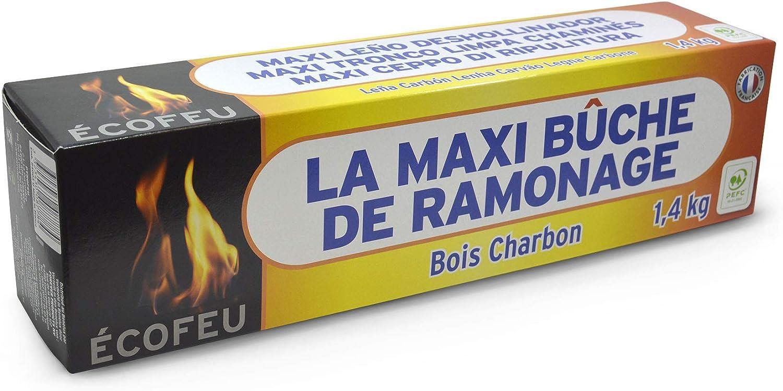 ECOFEU 8778-12 Leño deshollinador de chimenea MAXI 1.400 gr, Marrón