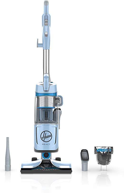 Hoover React Powered Reach Plus aspiradora Vertical sin Bolsa, con ...