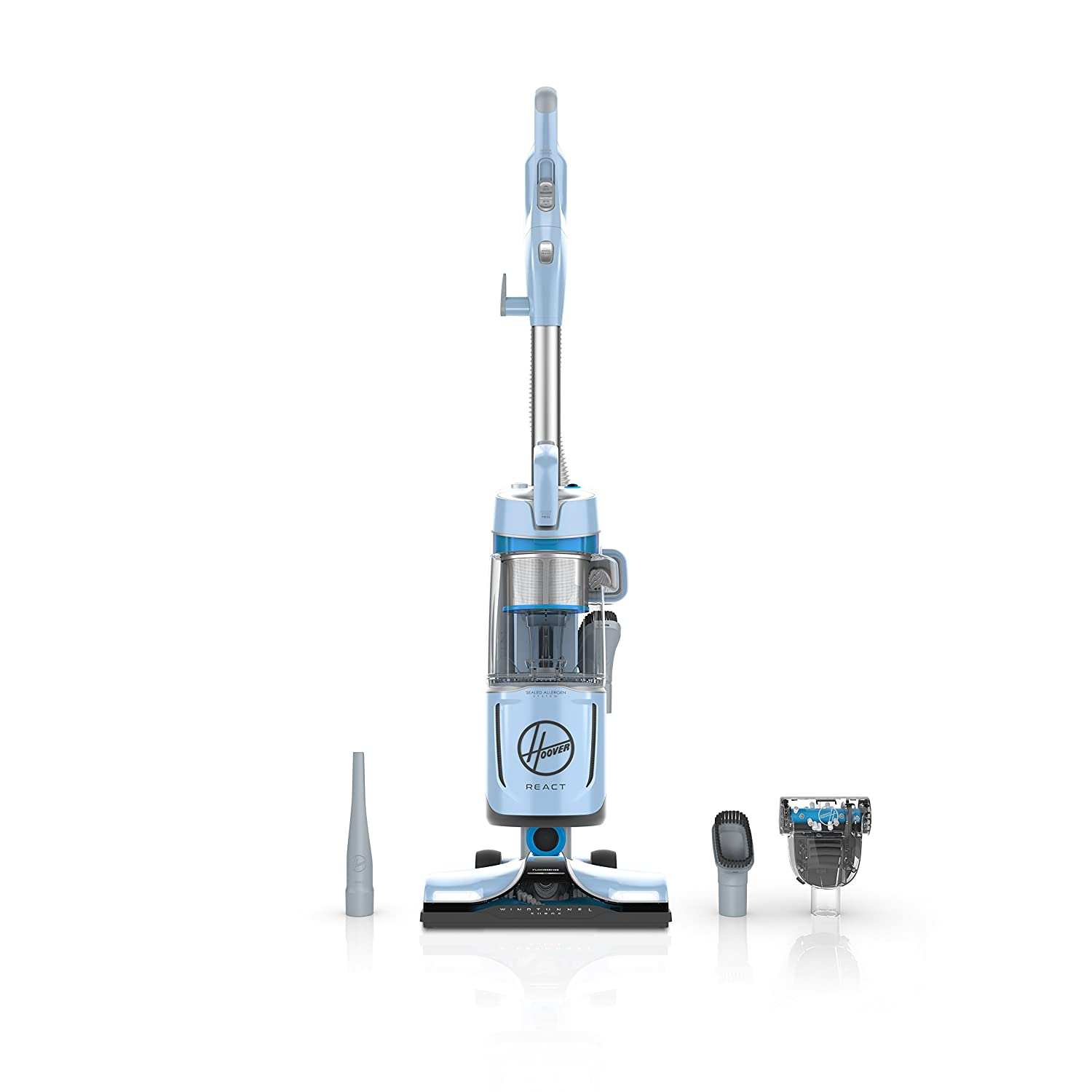 Hoover React QuickLift Bagless Upright Vacuum Blue