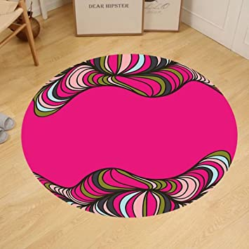 Amazon.com: Gzhihine Custom round floor mat Trippy Wavy Psychedelic ...