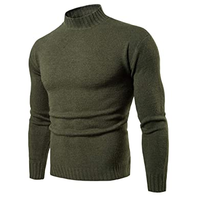 Gouache Turtleneck Sweater Winter Mens Knitted Sweaters Pullover