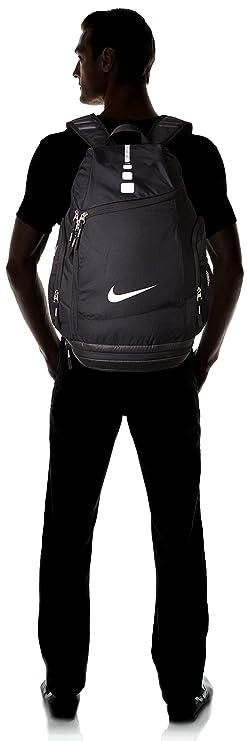 Amazon.com   Nike Hoops Elite Max Air Team Backpack Black White Size One  Size   Sports   Outdoors 099cf834b3056