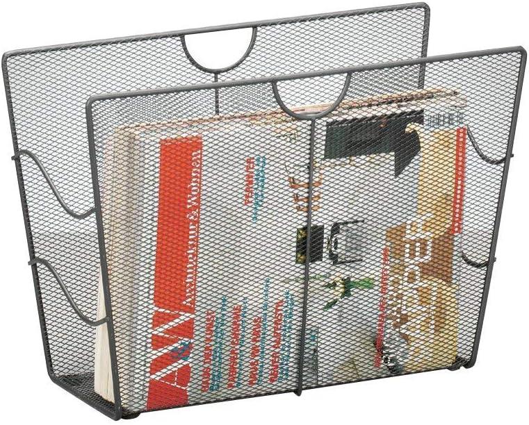 Zeller 17742 Porte-Revues en maille tress/ée anthracite 39 x 17,5 x 27 cm