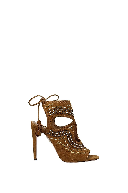 318efcbb636 AQUAZZURA Sandals Women - Suede (SXFHIGT2SNL) UK: Amazon.co.uk ...
