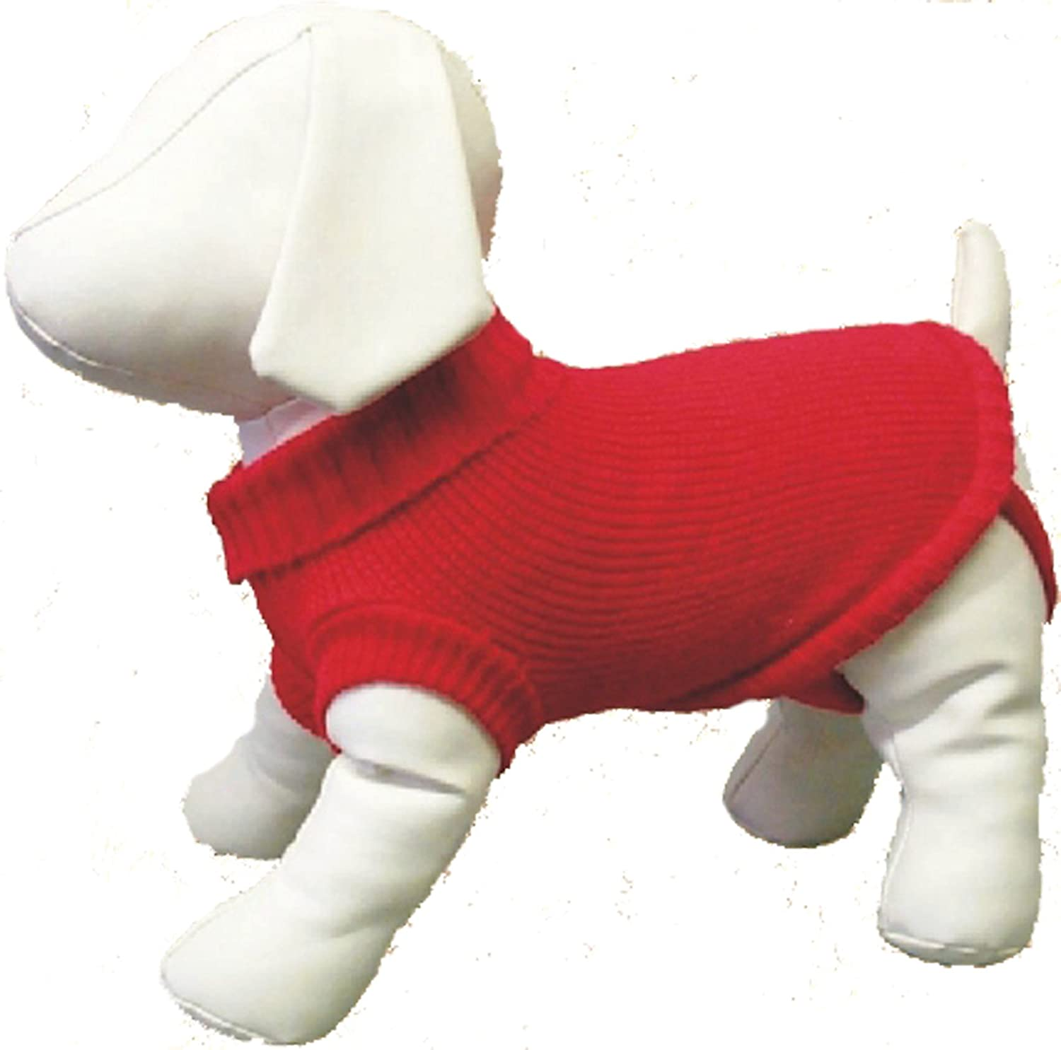Amazing Pet Products Dog Sweater, 8-Inch, Red
