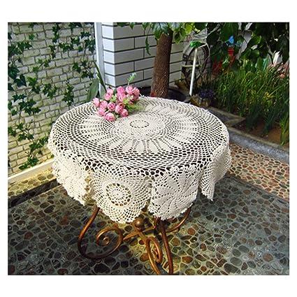 Hecho a mano Crochet Mantel Redondo Mantel toalla Crochet algodón manteles para boda mantel, algodón