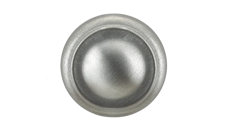 Richelieu Hardware BP8632175 Classic Metal Knob 10//9,Brushed Chrome