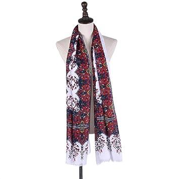 bajo precio 268bc 43bc2 Pañuelos de algodón y Lino Grandes Mantón Estampado Retro de ...