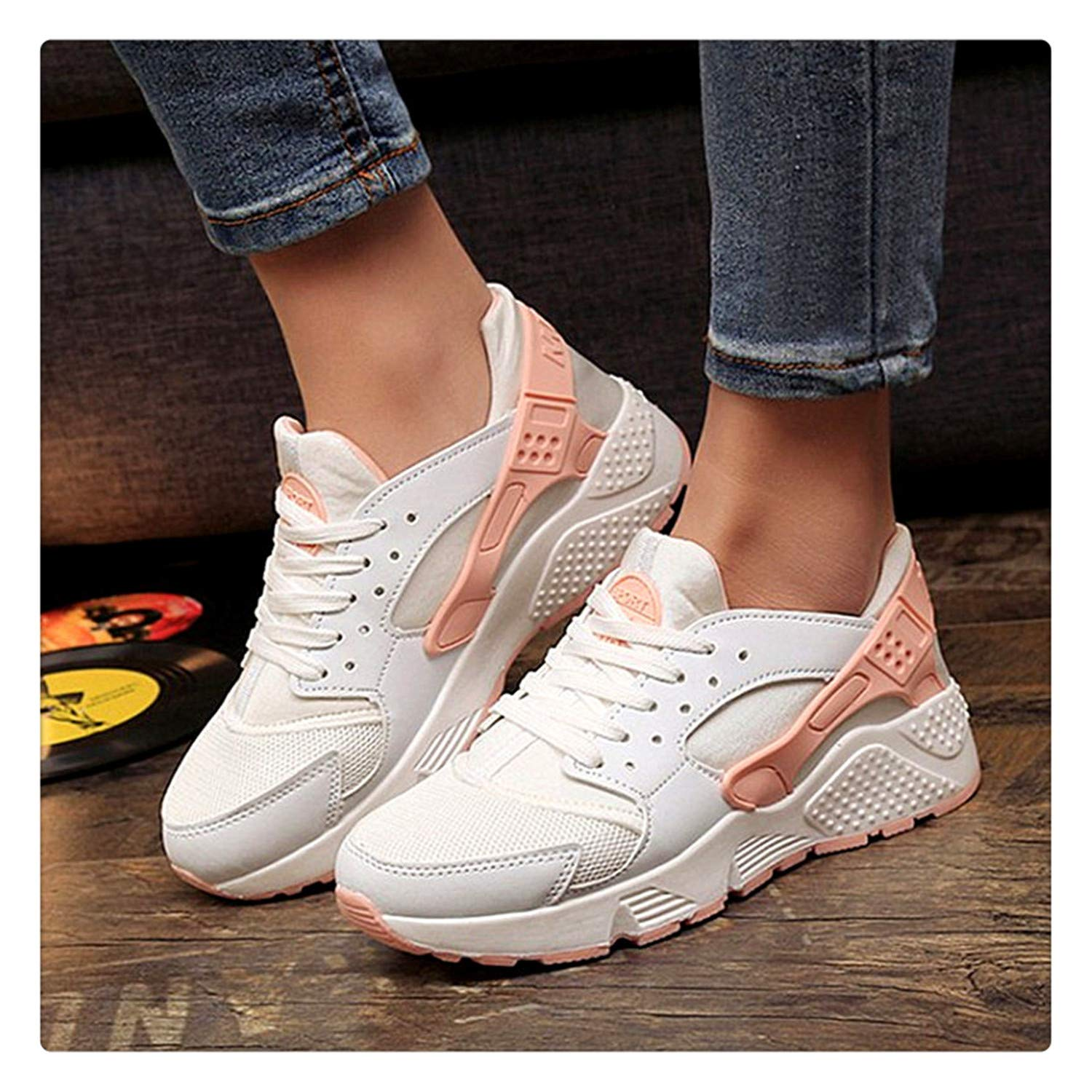 Amazon.com | Elma Dickens Fashion Vulcanize Shoes Trainers Women Sneakers Casual Shoes Basket Femme Air Mesh Tenis Feminino Zapatos Mujer Plataforma White ...