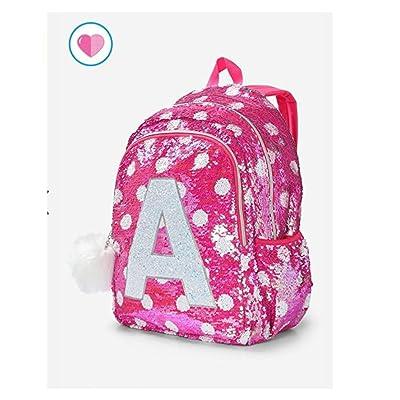 Justice Girls Flip Sequin Backpack Initial