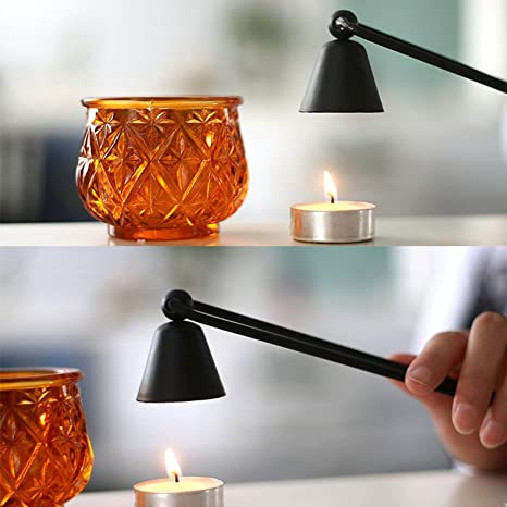 PiniceCore Home Decor Candle Snuff Bell Shaped Stainless Steel Long Handle Put Out Fire Wick Candles Extinguisher