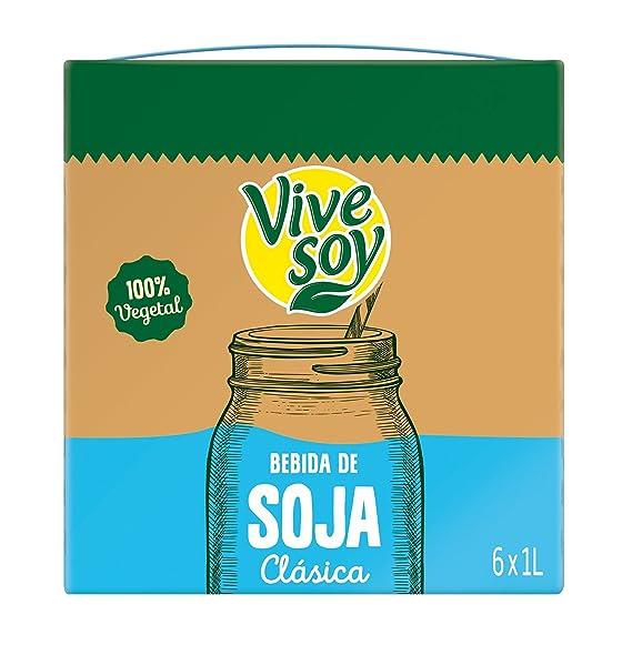 Vivesoy Bebida De Soja Sabor Natural - Pack de 6 x 1 L - Total: 6 L: Amazon.es: Amazon Pantry