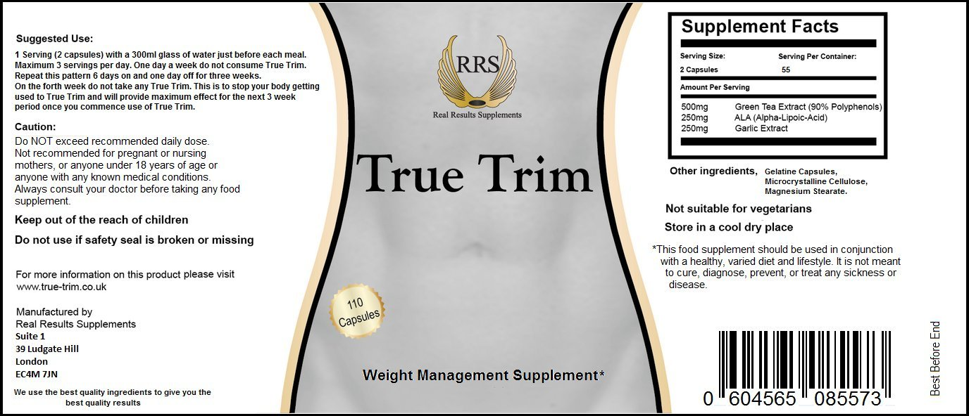 True Trim Fast Acting Fat Burner By Real Results Supplements 110 Electronic Watchdog Bit Stream Alpha Capsules Purest Highest Quality Ingredients Quickest Strongest Slimming