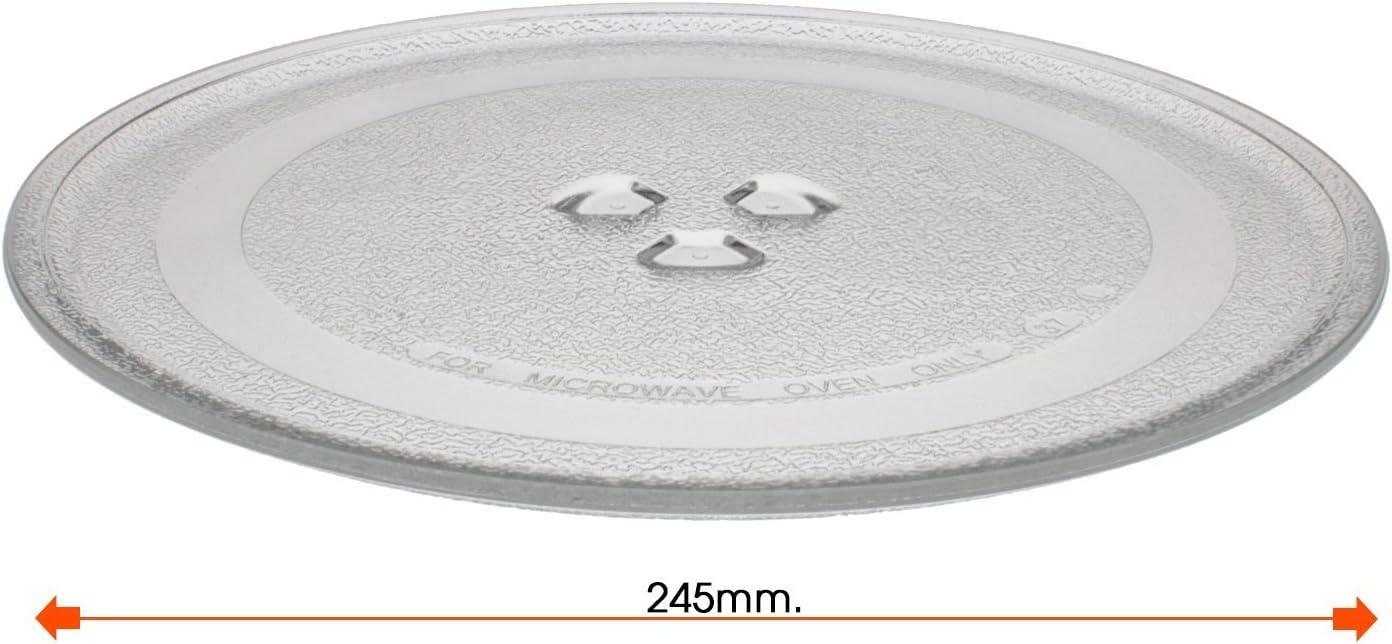 REPUESTOELECTRO Plato para microondas diametro Ø 245mm LG BALAY ...