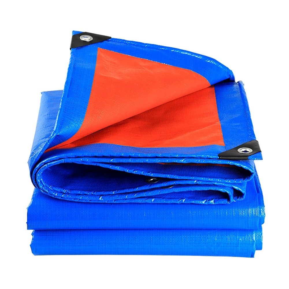 QINAIDI Verdicken Sie Regendichte Sonnenschutz-LKW-Plane, Blaue und Orange Wasserdichte Plane Im Freien, Wasserdichtes Material, Regenplane, LKW Pet-Plane