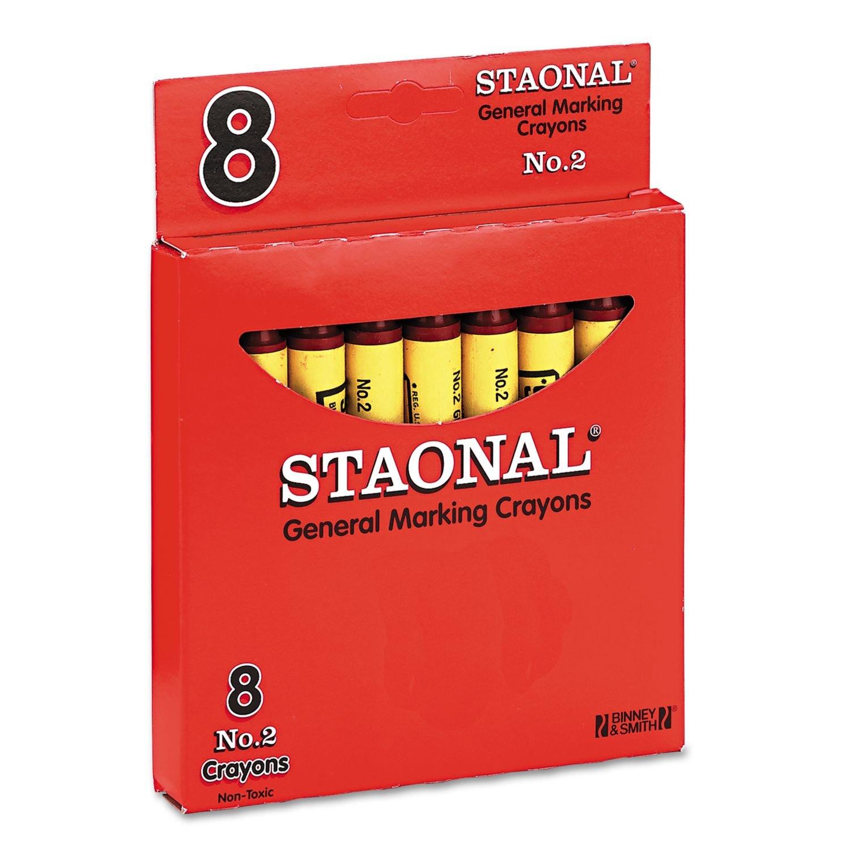 CRAYOLA 8//Box BINNEY /& SMITH Crayola 5200023038 Staonal Marking Crayons Red