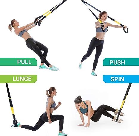 Xtride Kit de Entrenamiento en Suspensión Fitness Profesional ...