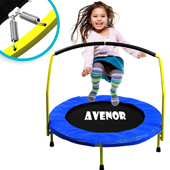 Toddler Trampoline With Handle - The Best Easy Assembly Toddler Trampoline