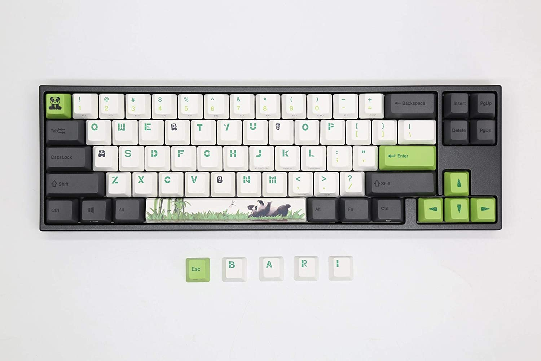 Ducky Miya Pro Panda White LED 60/% Dye Sub PBT Mechanical Keyboard Cherry MX Brown