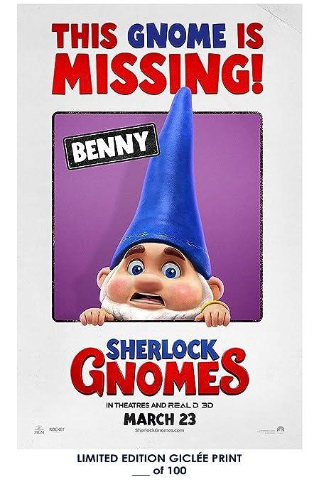 amazon com rare poster benny sherlock gnomes gnomeo juliet