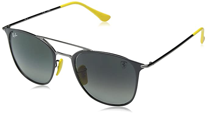 40a4773b1e Image Unavailable. Image not available for. Color  Ray-Ban Steel Unisex  Sunglass Square