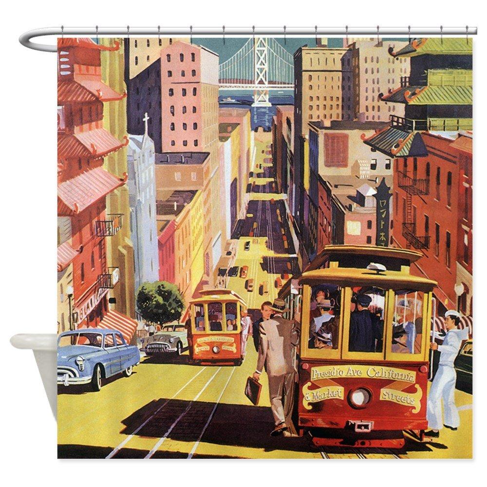 Amazon CafePress Vintage San Francisco Shower Curtain Decorative Fabric 69x70 Home Kitchen