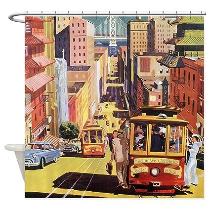 CafePress Vintage San Francisco Shower Curtain Decorative Fabric 69quot