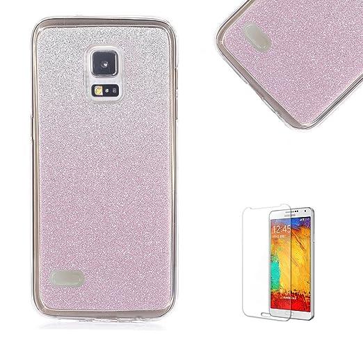 2 opinioni per Per Samsung Galaxy S4 Mini Custodia,Funyye Glitter Brillare Porpora Graduale