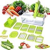 10 in 1 Slicer Dicer Multischneider Gemüsehobel Gemüseschneider Gemüse und Obst Schneiden, Raspeln, Zerkleinen, Verstellbarer Mandoline Gemüseschneider Kartoffelschneider Gemüsehobel Gemüsereibe Mandoline Slicer Schnell und gleichmäßig für Zwiebel, Kohl, Kartoffeln, Tomaten, Gurken