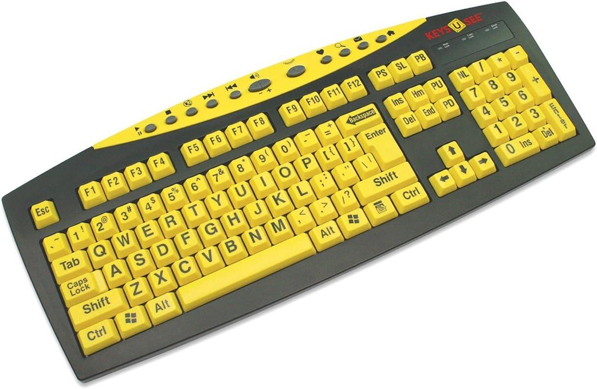 Keys-U-See Large Print Keyboard-Yellow w-Blk Print