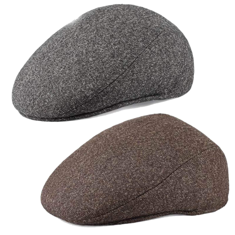 LONIY Male hat The Elderly Winter Cap Autumn and Winter Woolen hat Large Size 59cm 60cm 61cm 62cm