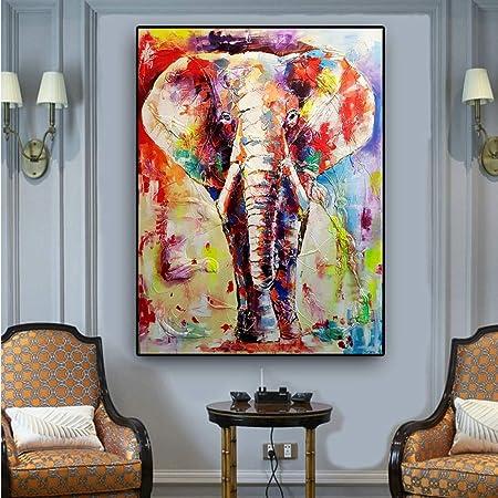 xingbu Sin Marco Colorido Elefante Africano Lienzo ng ...
