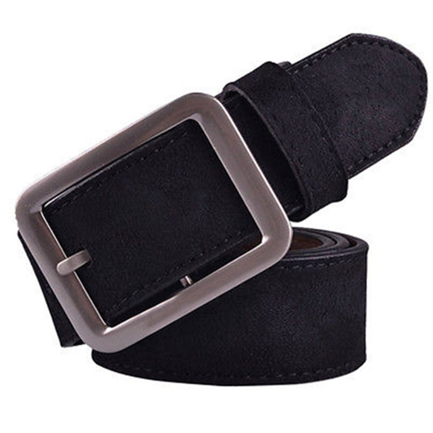 Thadensama Men Fashion Casual Faux Leather Waistband Pin Buckle Waist Strap Belts Gift