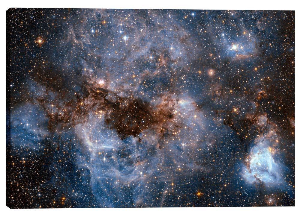 Blue 12 x 18 Epic Graffiti Maelstrom Cloud Hubble Space Telescope Giclee Canvas Wall Art