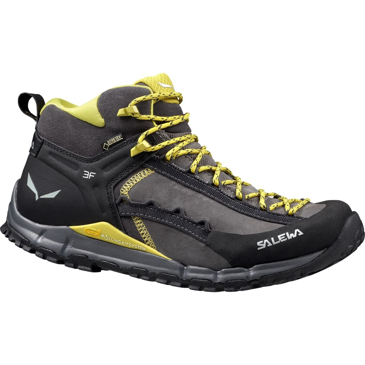 Salewa Hike Roller Mid GTX Speed Ascent Shoe, Pewter/Kamille, 10.5 M US
