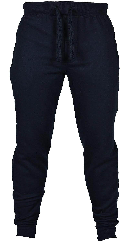New Mens Slim Fit Tracksuit Bottoms Skinny Jogging Joggers Sweat Pants Trousers