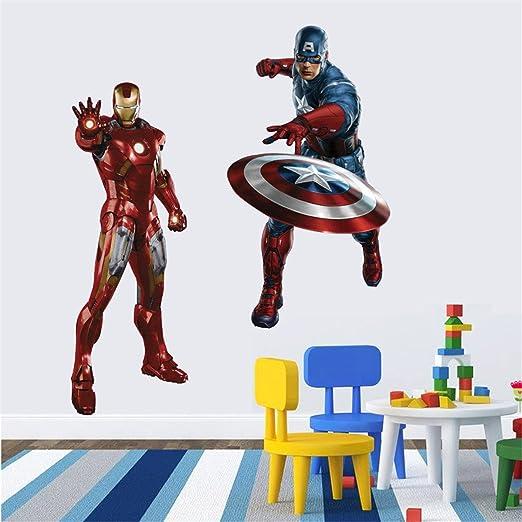 lego superheroes SUPERMAN IRONMAN SPIDERMAN photo paper WALL STICKER WALL DECALS
