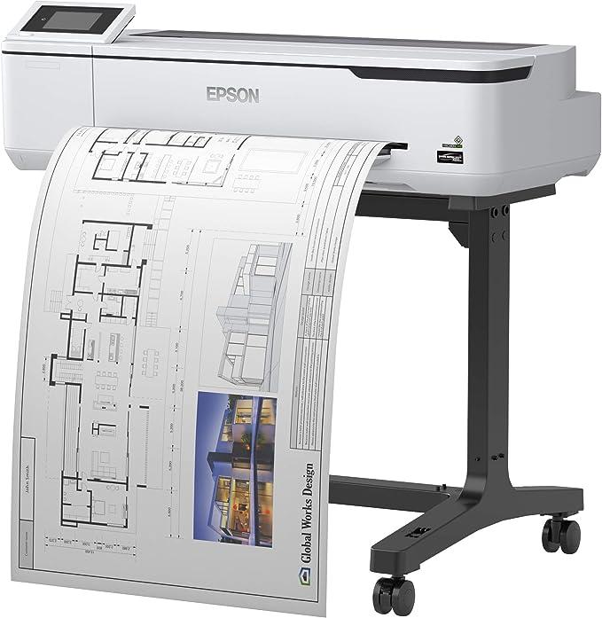 Epson SureColor SC-T3100 - Impresora de Gran Formato (2400 x 1200 dpi, ESC/P-R,HP-GL/2,HP-RTL, Negro, Cian, Magenta, Amarillo, PrecisionCore, A1 (594 x 841 mm), 0.05-0.27 mm): Epson: Amazon.es: Informática