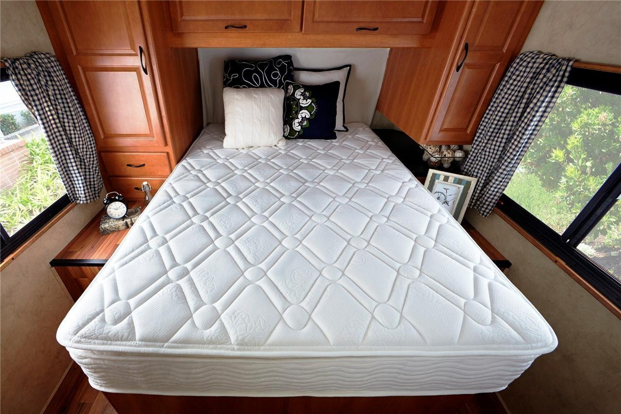 amazon com zinus deluxe spring 10 inch pillow top rv camper trailer