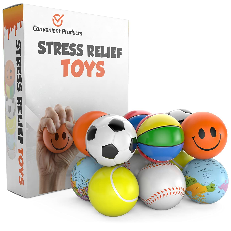 Amazon Stress Balls for Kids & Adults 12 Pack Stress