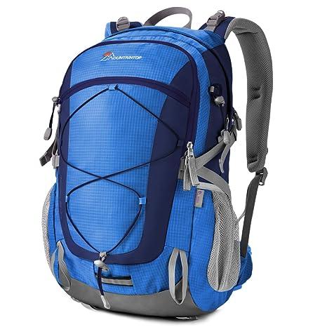 5cb43cf666b100 MOUNTAINTOP 40 Litri Zaino Trekking Sportivo Outdoor Donna e Uomo  Impermeabile per Campeggio Alpinismo Arrampicata Viaggio