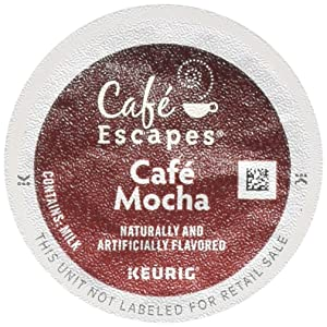 Gourmet Single Cup Coffee CAF Cafe Mocha - 12 Count K-Cups CAF Esca[ES,(Green Mountain Coffee Roasters)