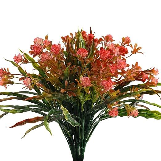 Mihounion Kunstliche Pflanzen Fur Innen Plastikblumen Kunststoff