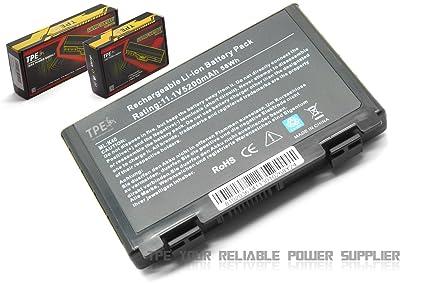 De alto rendimiento TPE 5200 mAh 58 wh batería para ordenador portátil Asus F52 F83S K40