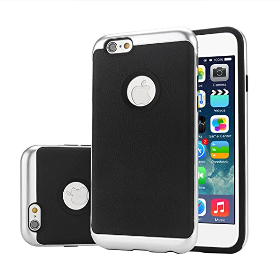 amazon com apple iphone 6 plus case, creative design silver phone