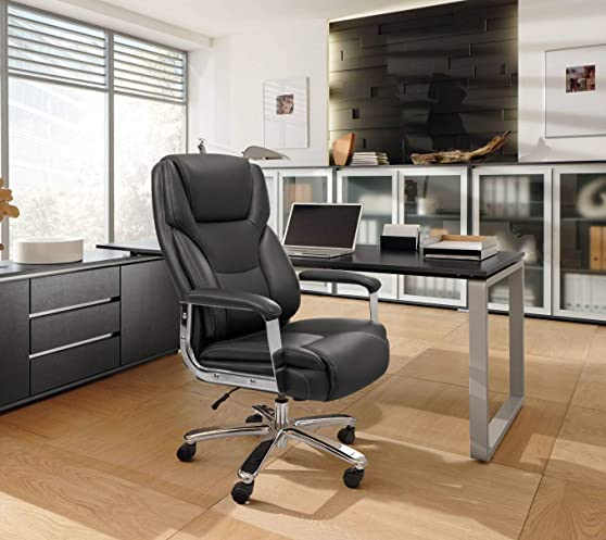 Homall Big and Tall Office Chair High Back Executive Computer Task Chair Swivel Adjustable Leather Ergonomic Desk Chair