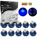 Partsam 10PCS Blue T3 Neo Wedge Instrument Panel LED Light Gauge Cluster Indicator Bulbs