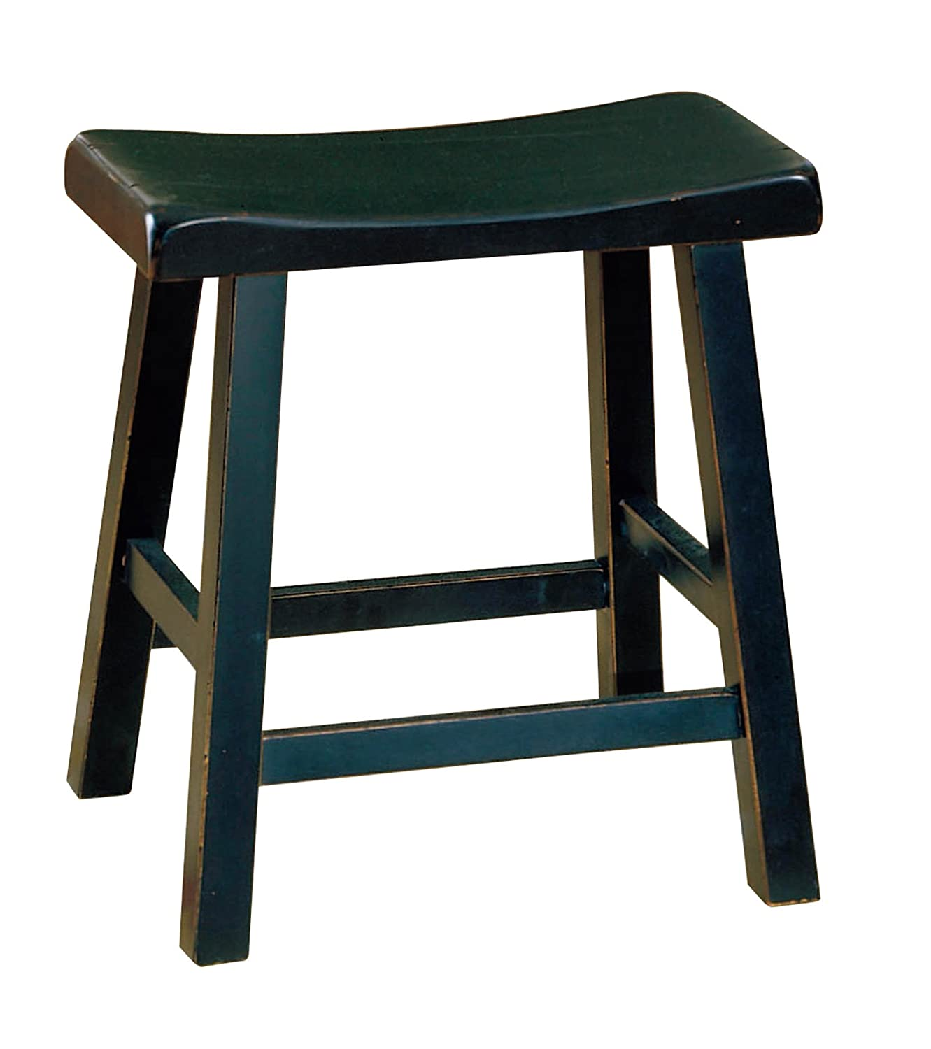 Amazon.com Homelegance 5302BK-18 Saddleback 18-Inch Barstool Kitchen u0026 Dining  sc 1 st  Amazon.com : 18 inch saddle stool - islam-shia.org